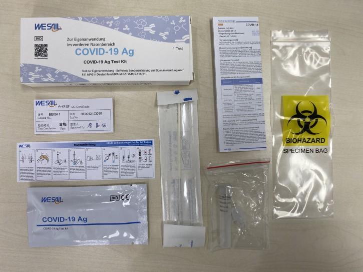 Laientest !!! WESAIL Covid 19 AG Test-Kit