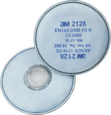 3M Partikelfilter mit Aktivkohle P2 2128 Bajonett Filter zur Serie 6000, 7000 und FF-400