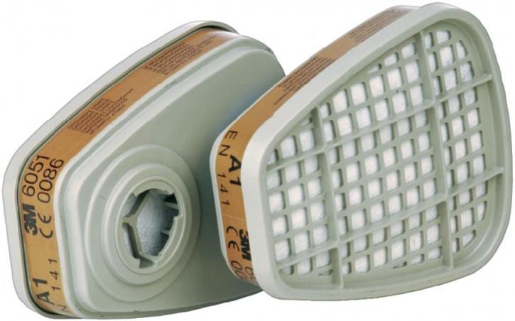 3M Gasfilter A1 6051 Bajonett Filter zur Serie 6000, 7000 und FF-400
