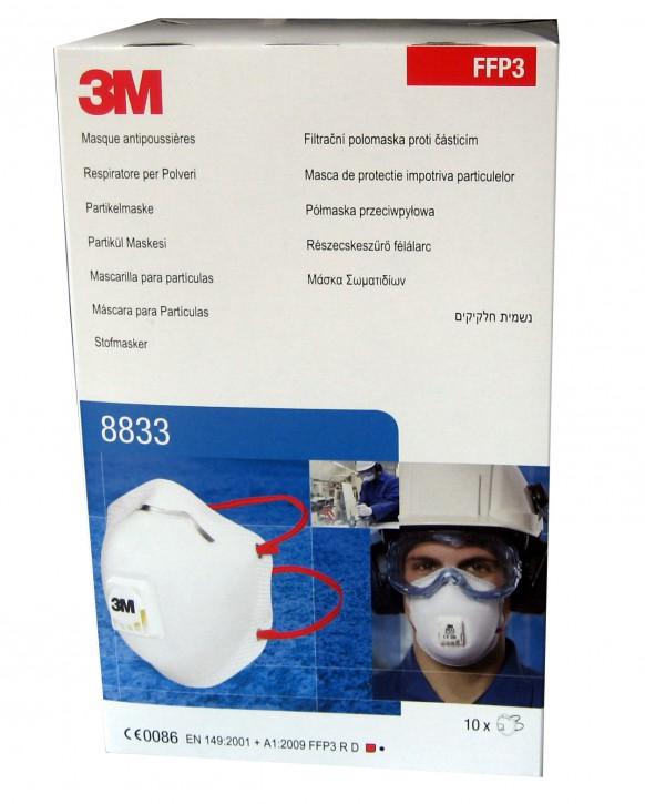 3M Atemschutzmaske 8833 FFP3
