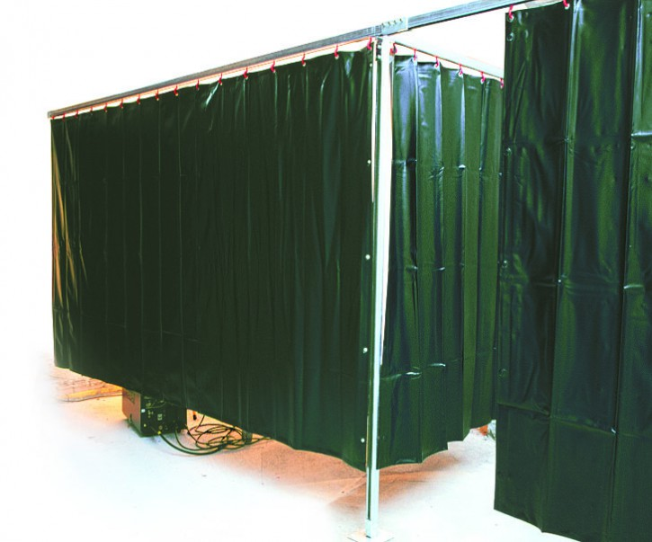 Schweißervorhang, dunkelgrün