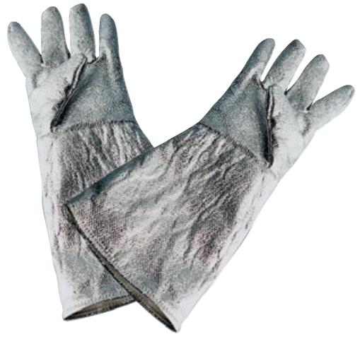 Hitzeschutzhandschuhe bis 1000°C Strahlungshitze EN 407 Glasgewebe 350mm lang