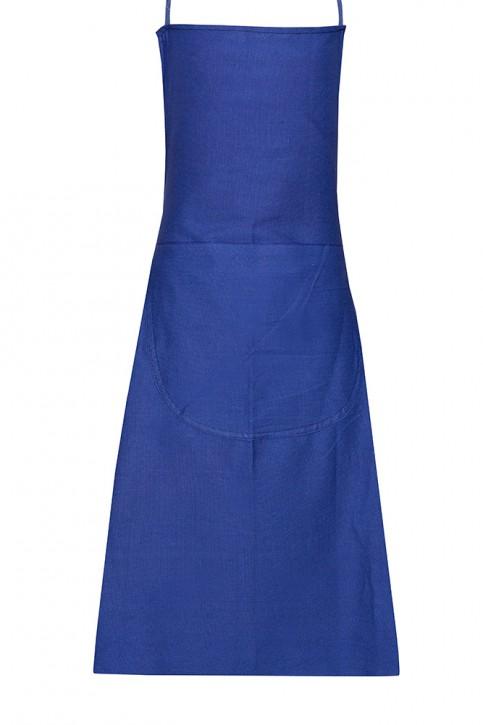 Baumwoll- Köper Schürze blau Arbeitsschürze 80 x 100 cm