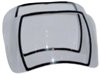 Optrel Vorsatzscheiben für außen vergaview2.5, OSE, e680, e650, e640