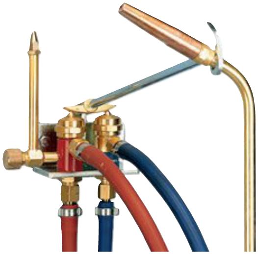 Gassparer mit regulierbarer Pilotflamme