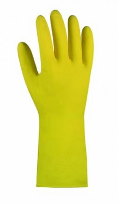 Latex- Haushaltshandschuh  gelb