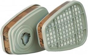 3M Gasfilter A2 6055 Bajonett Filter zur Serie 6000, 7000 und FF-400