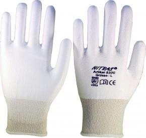 Schnittschutzhandschuh PU grau oder weiß