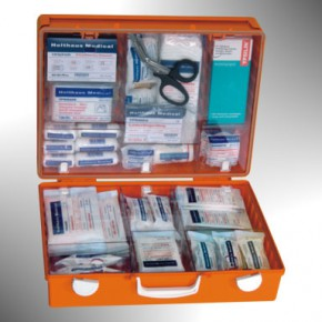 Erste Hilfe Koffer gefüllt nach DIN 13 169 erweitert Holthaus Medical