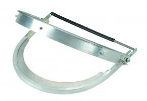 Universal-Helmhalterung für Schutzscheibe Alu