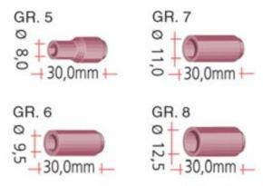 Gasdüse aus Keramik für TBi. SR 9, SR 20, SBT 9, SBT 20