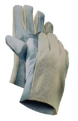 Nappalederhanschuhe mit Textilrücken